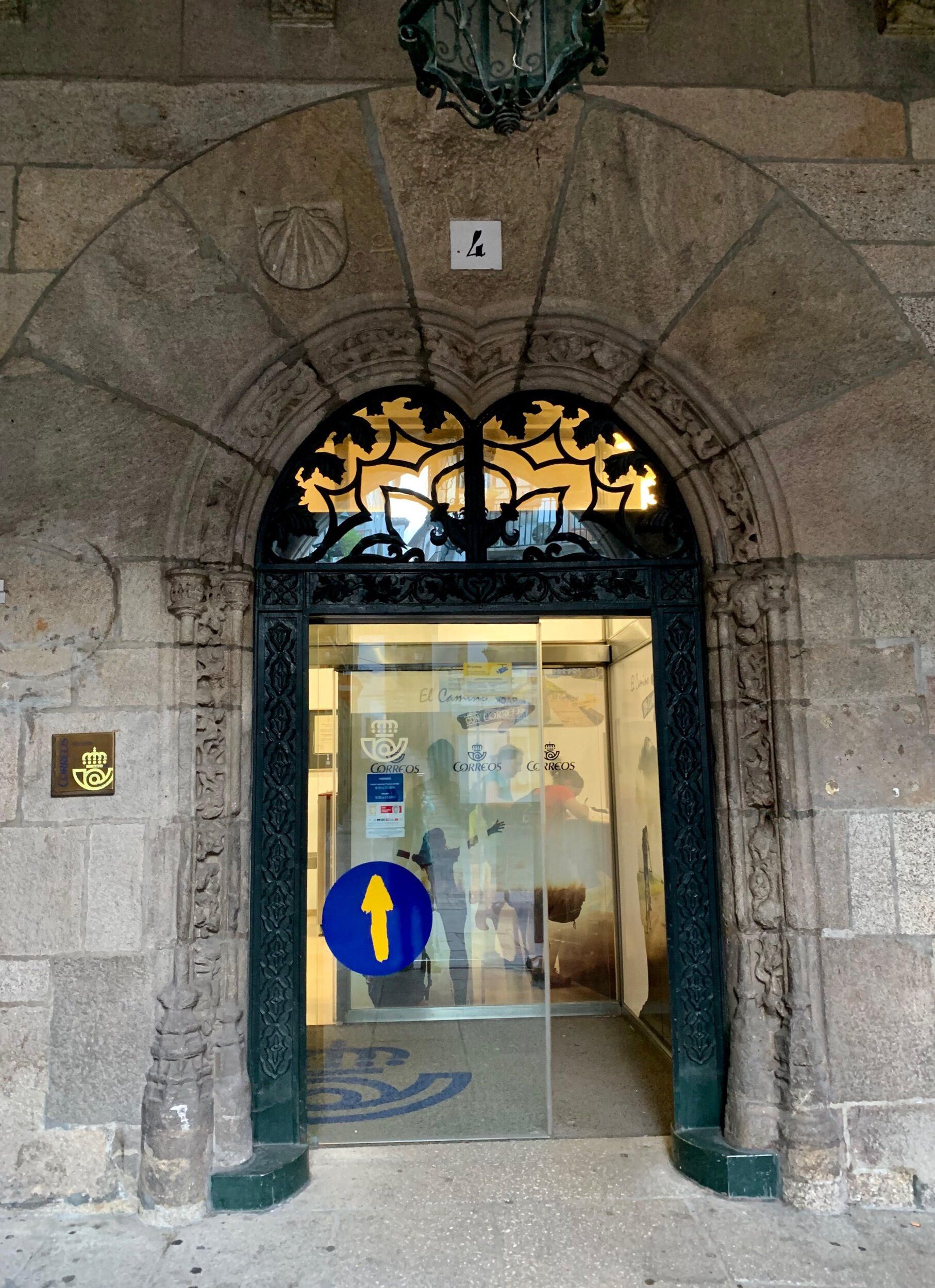 The main post office in Santiago where I leave my pack and hope for the best….