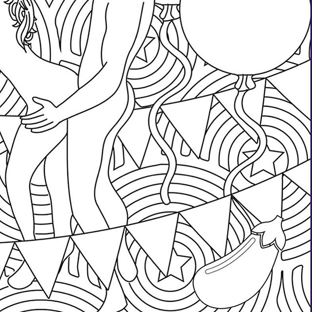 Commission for a show by @spidersilver - get your tickets now!  #adultcolouring #adultcolouringbook #colouring #colour #mindfullness #fillmein #fillmeinuk #illustration #design #art #london #relationship #beautiful #NSFW #book #style #fashion #graphics #color #adultcoloring #adultcoloringbook #sale #london #valentinesday
