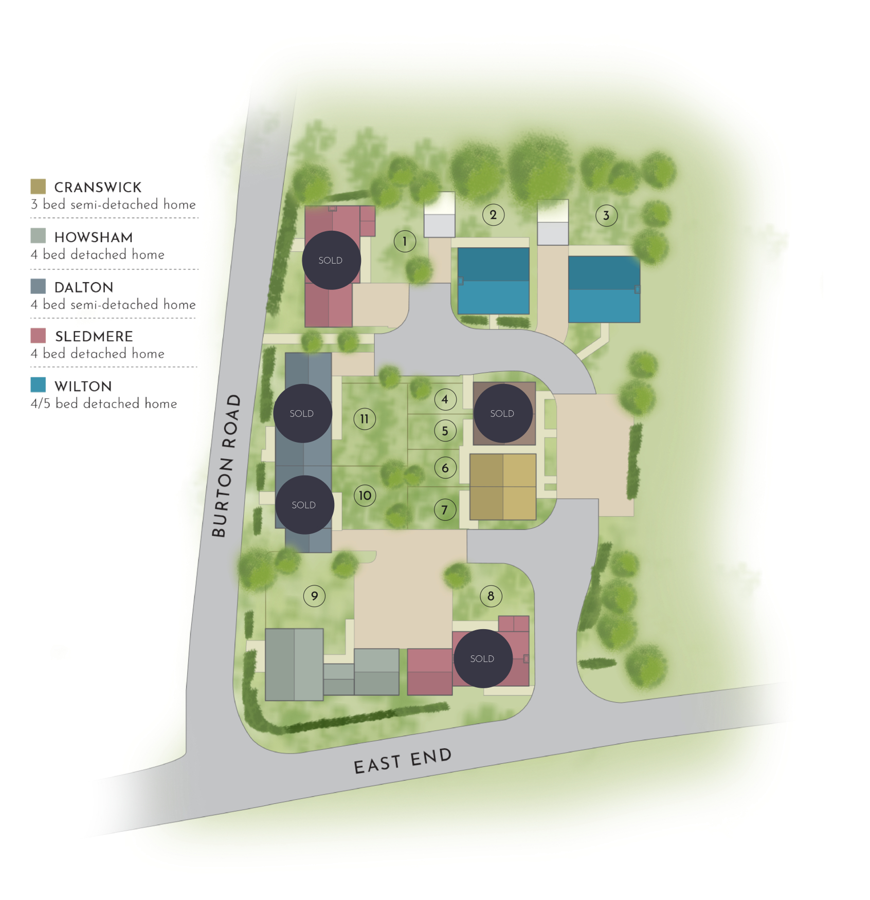 Woldgate Pastures - Site Plan with Reservations