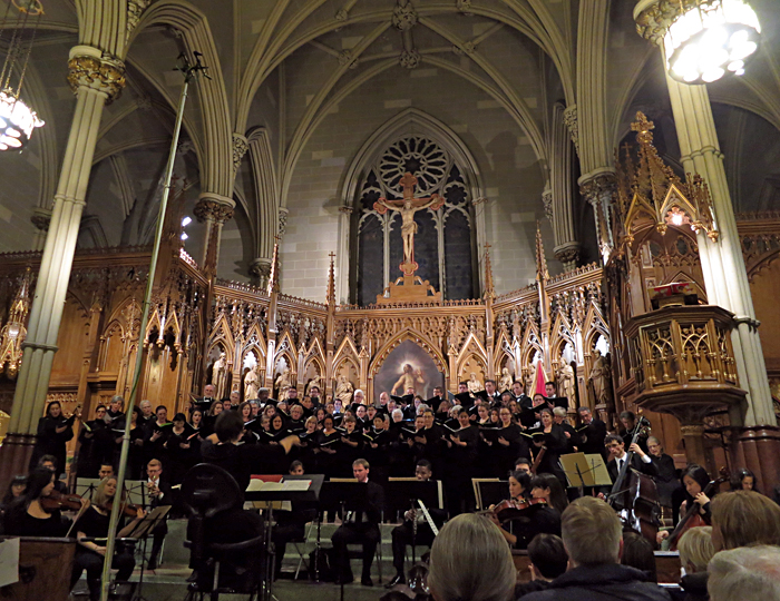 Performing j.s. Bach's  Magnificat in D major  at the Basilica of st. patrick's old cathedral, december 2013