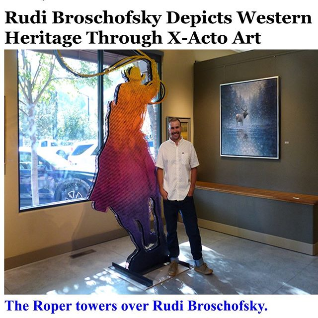 Thank you @eyeonsunvalley  for the great write up. Currently on view @broschofsky_galleries Link in bio for the full article. . . . #westernart #modernart #popart #contemporaryart #art