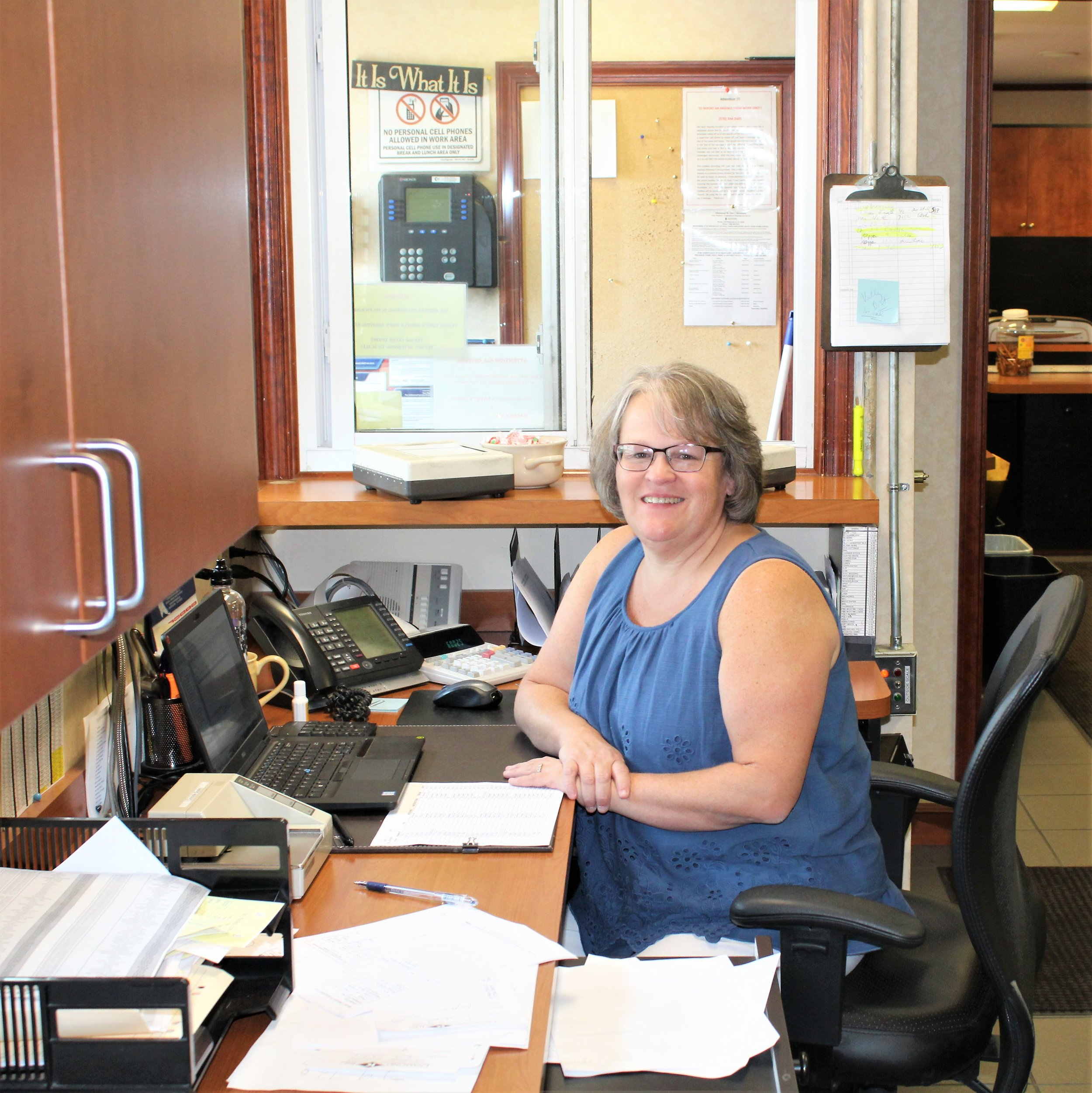 Sue Pallo, Dispatcher for Diamond K Inc.