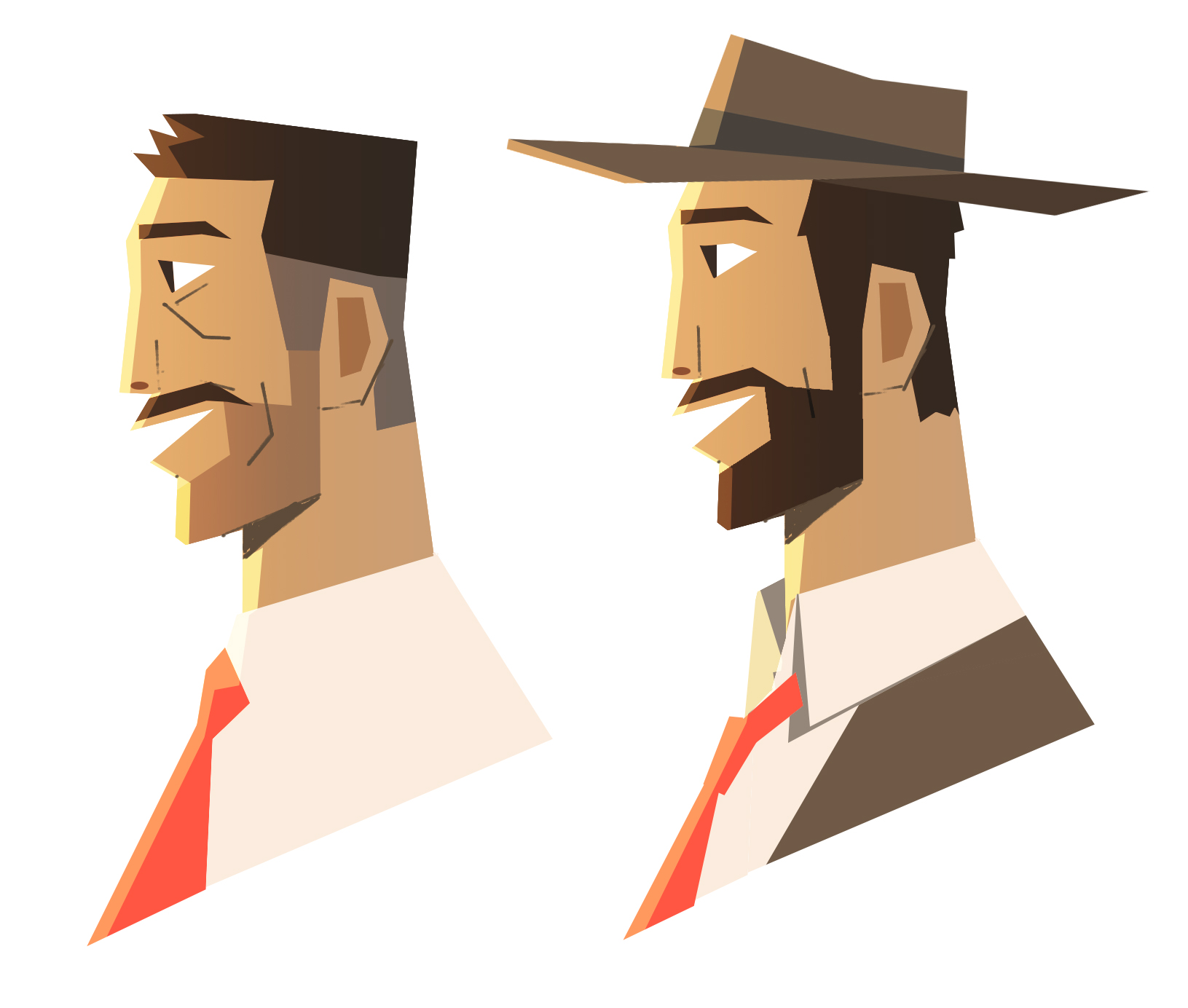 Explorations of an older and younger version of the Marlboro Man.