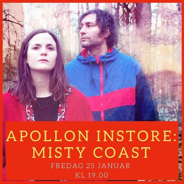 Fredag 25.jan kommer @mistycoastmusic med nytt album og de spiller live i sjappen 😍