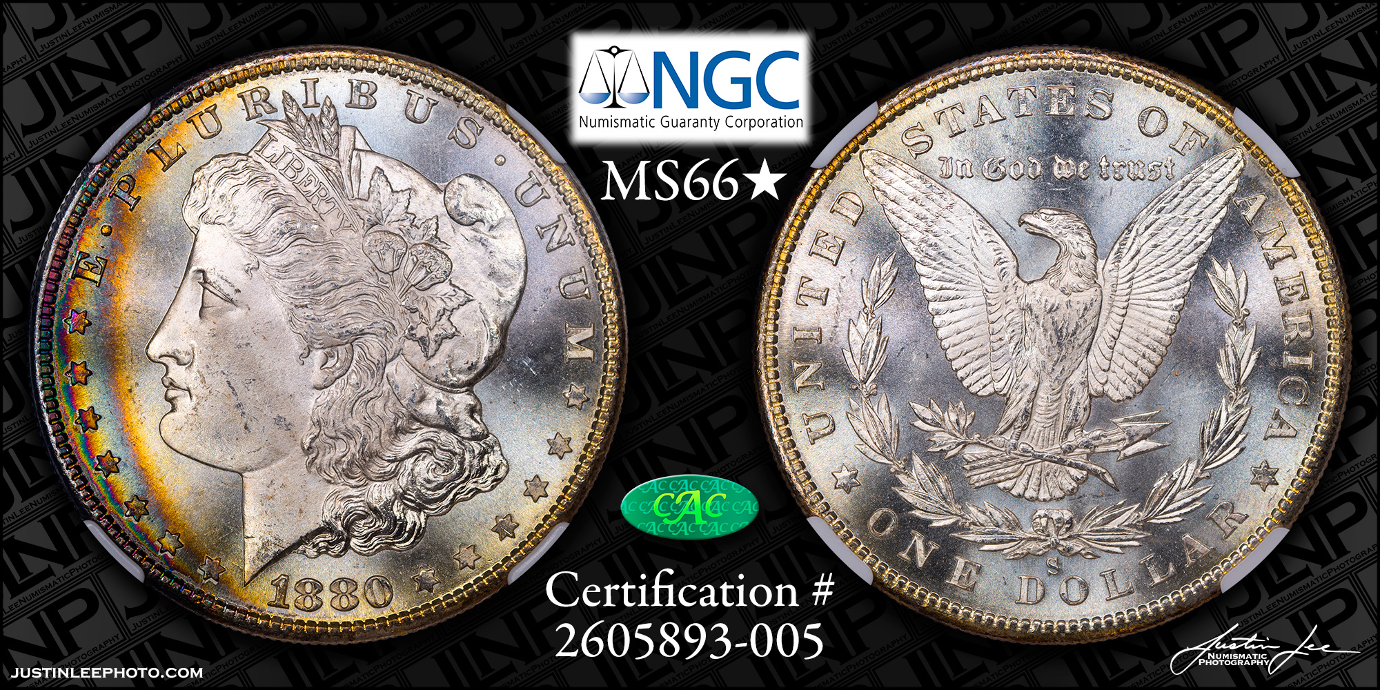 1880-S Morgan Dollar NGC MS66 Star CAC