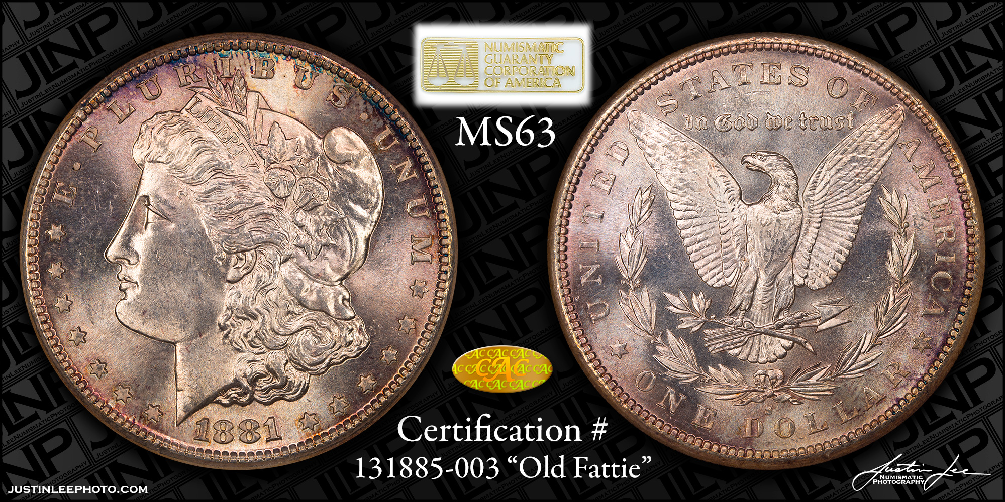 1881-S Morgan Dollar NGC MS63 Gold CAC