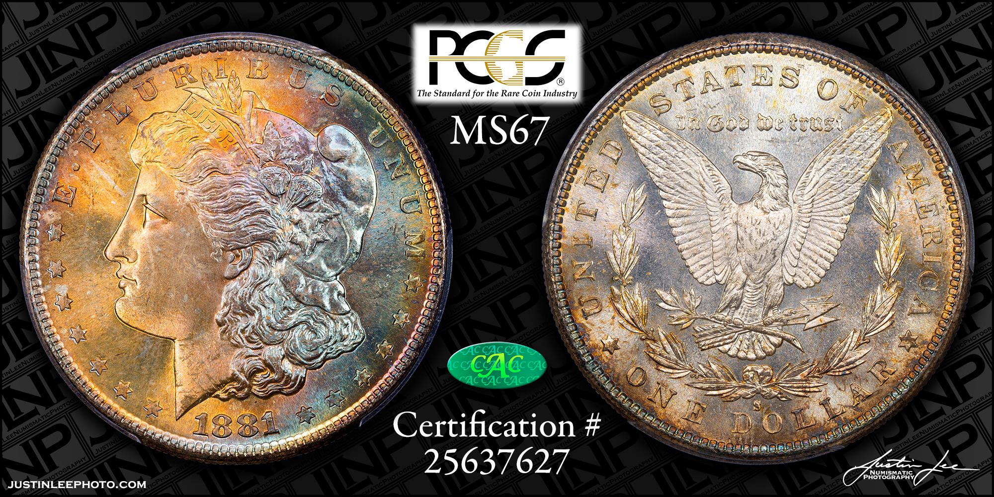 1881-S Morgan Dollar PCGS MS67 CAC