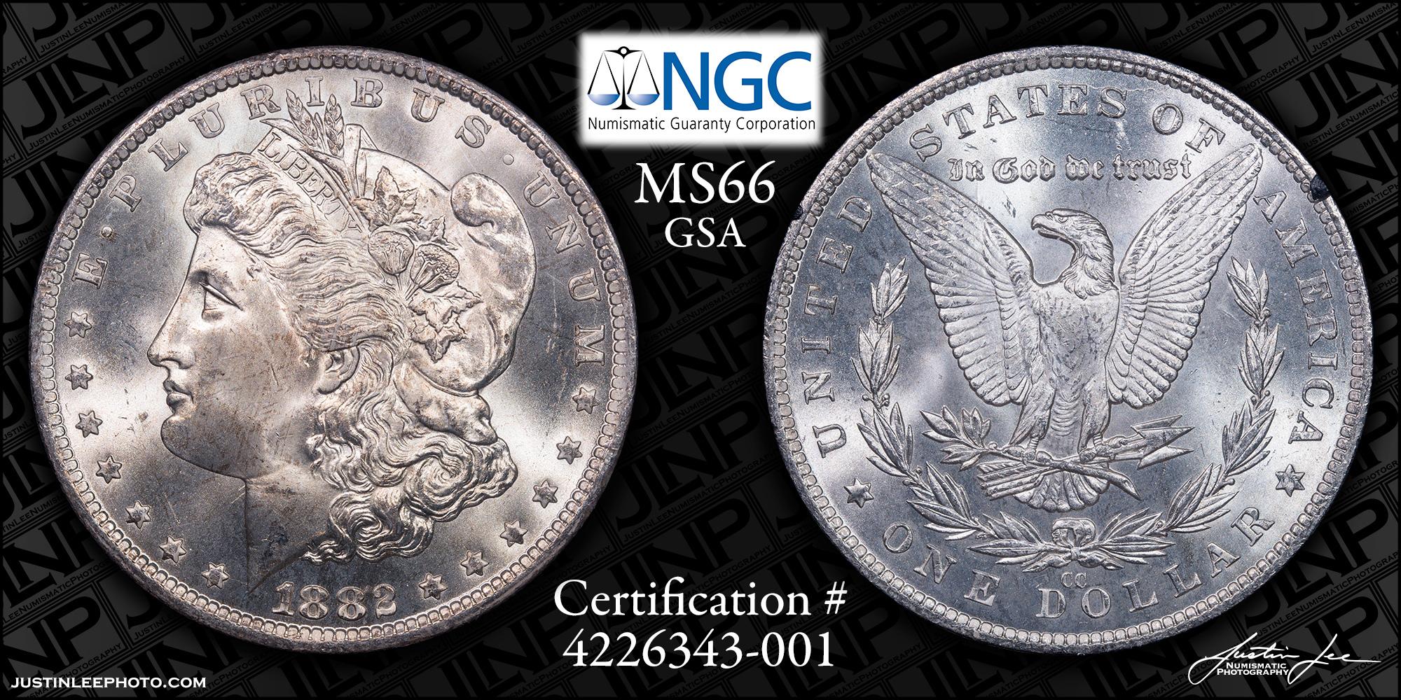 1882-CC Morgan Dollar GSA NGC MS66