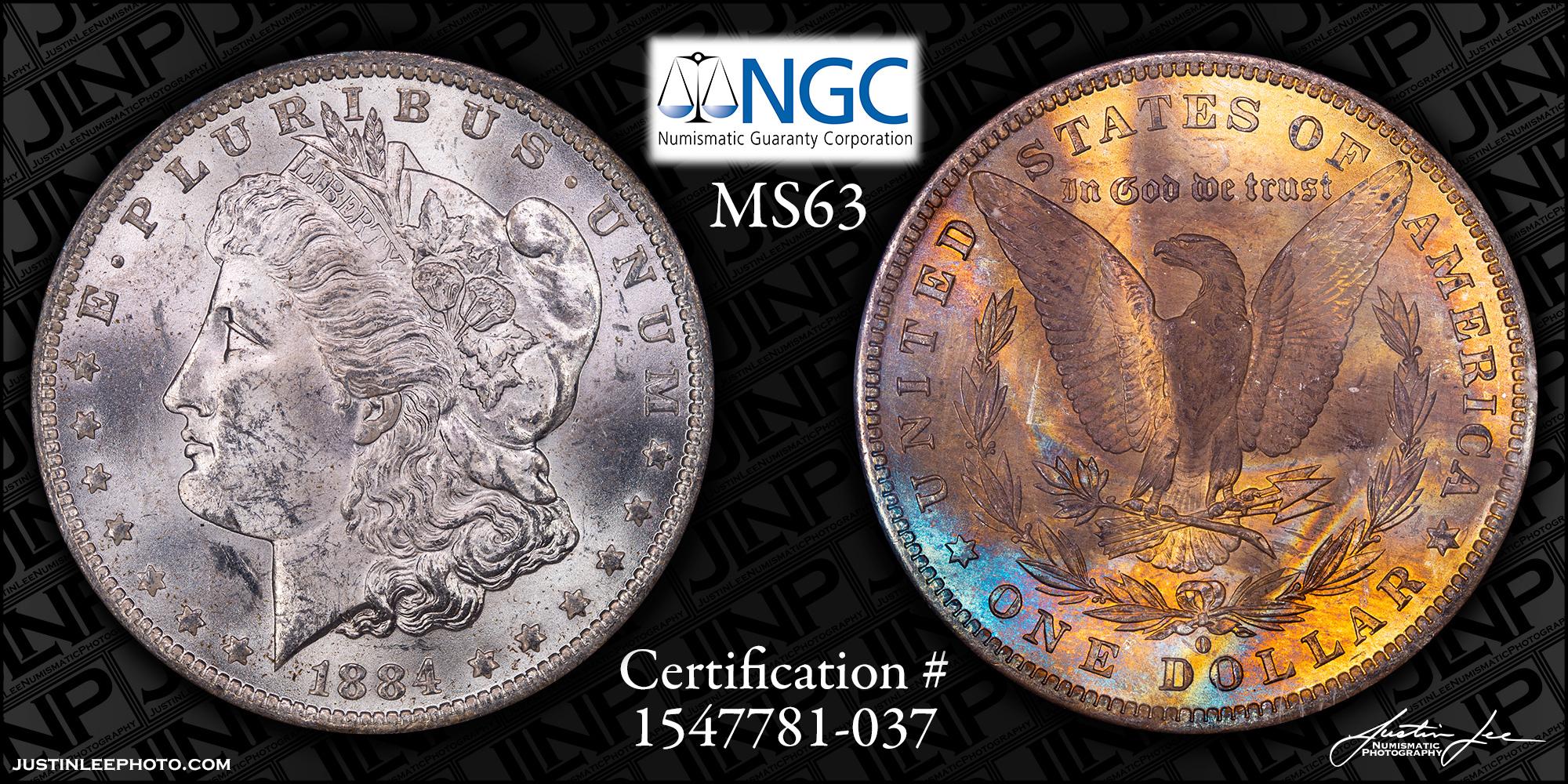 1884-O Morgan Dollar NGC MS63