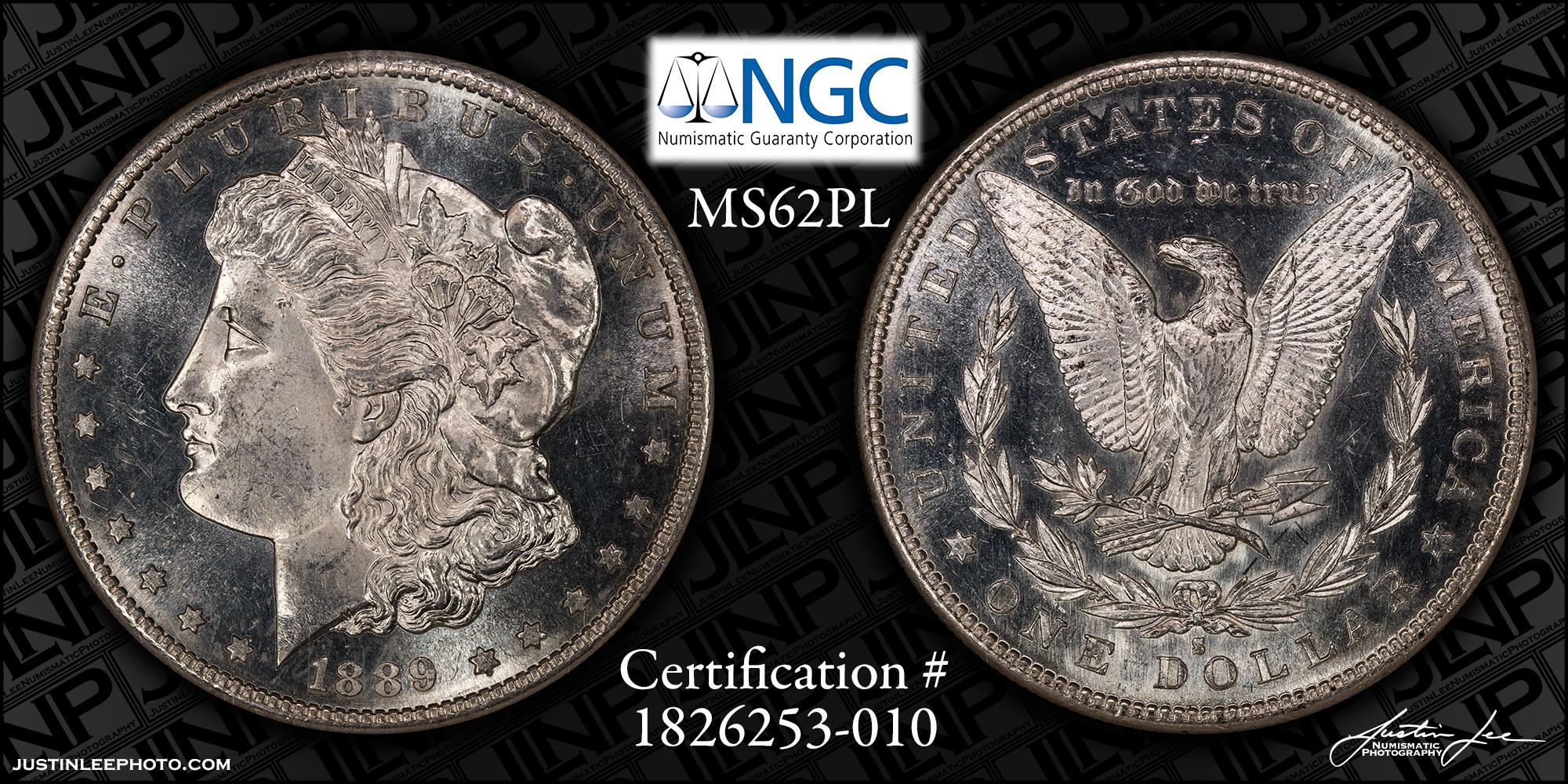1889-S Morgan Dollar NGC MS62PL