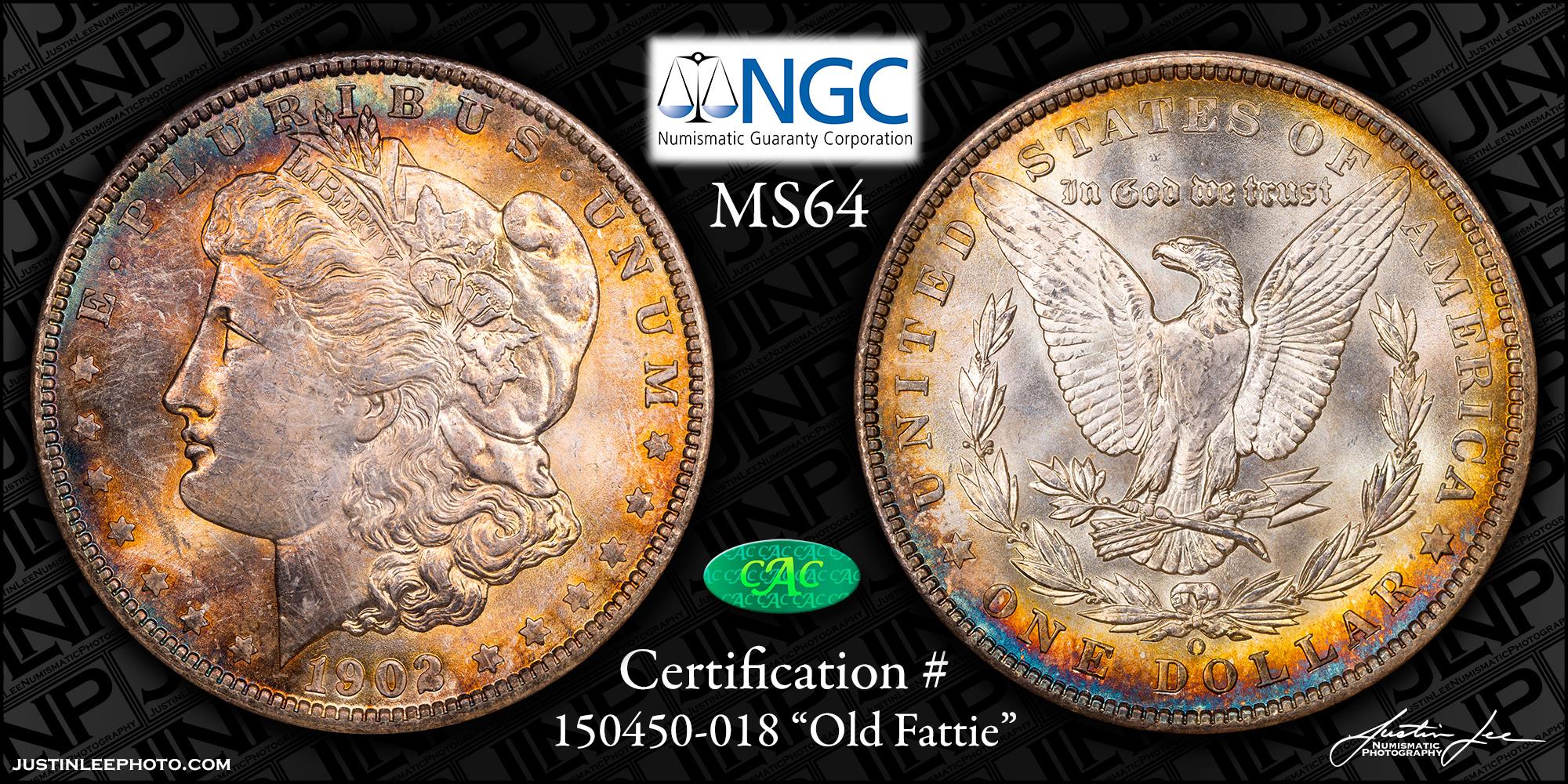 1902-O Morgan Dollar NGC MS64 CAC