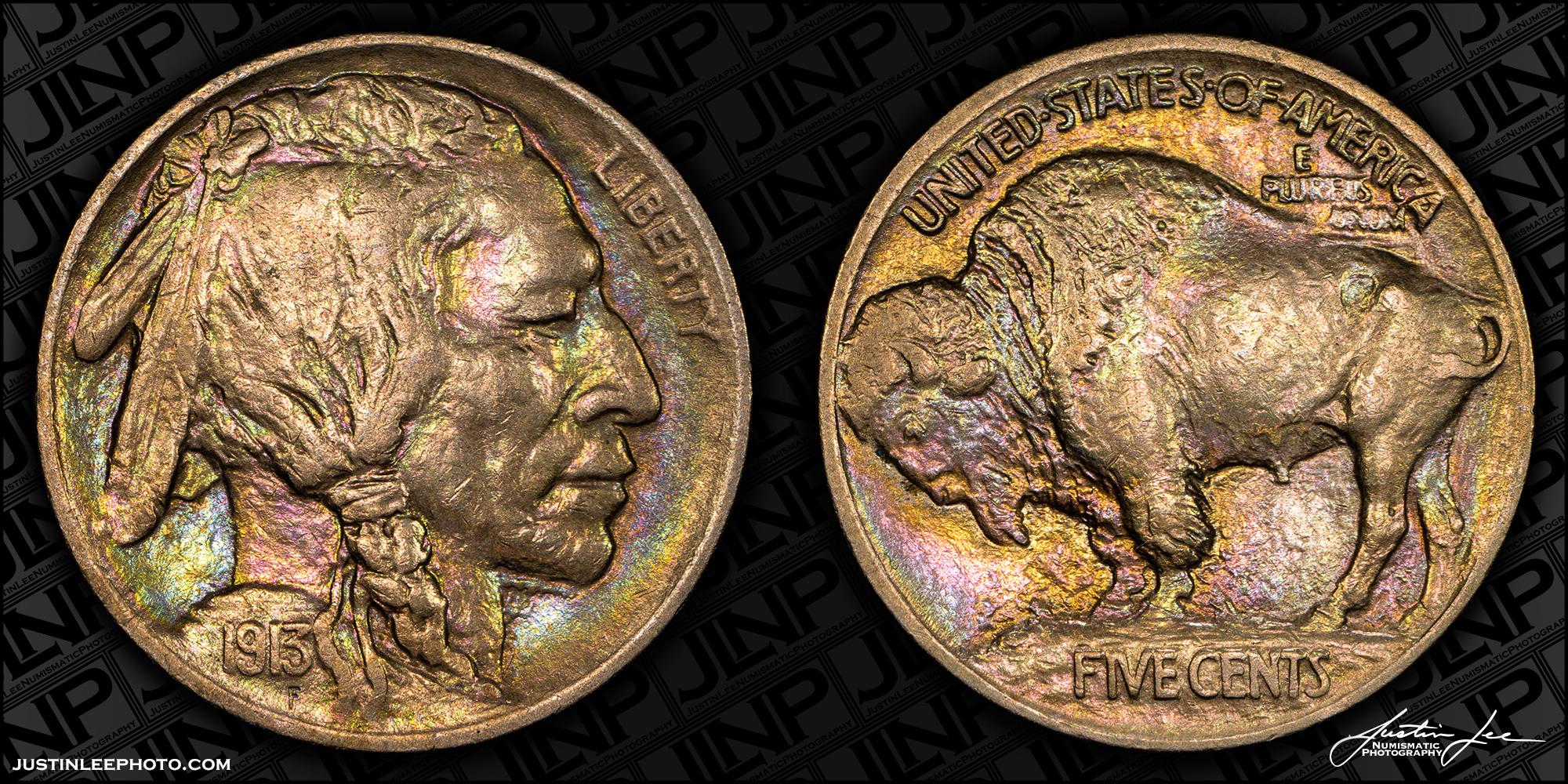 1913 Type 1 Buffalo Nickel Raw