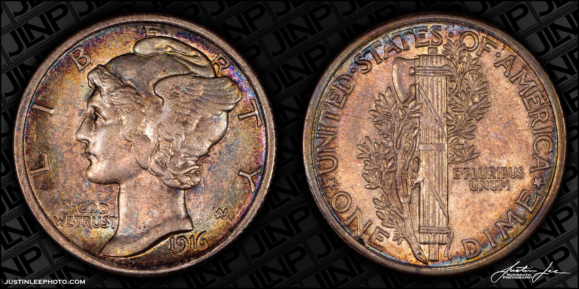 1916 Mercury Dime Raw