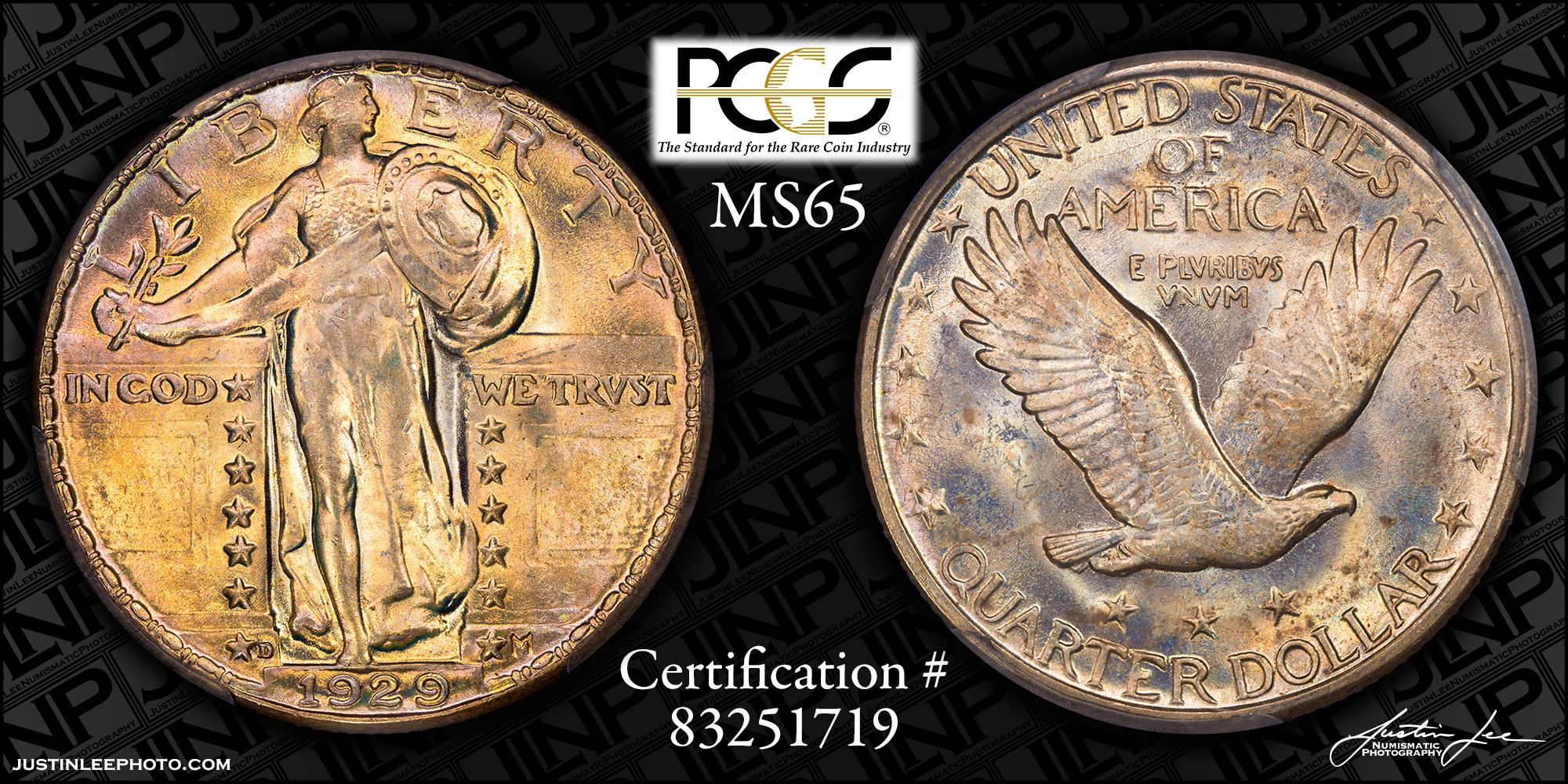 1929-D Standing Liberty Quarter PCGS MS65