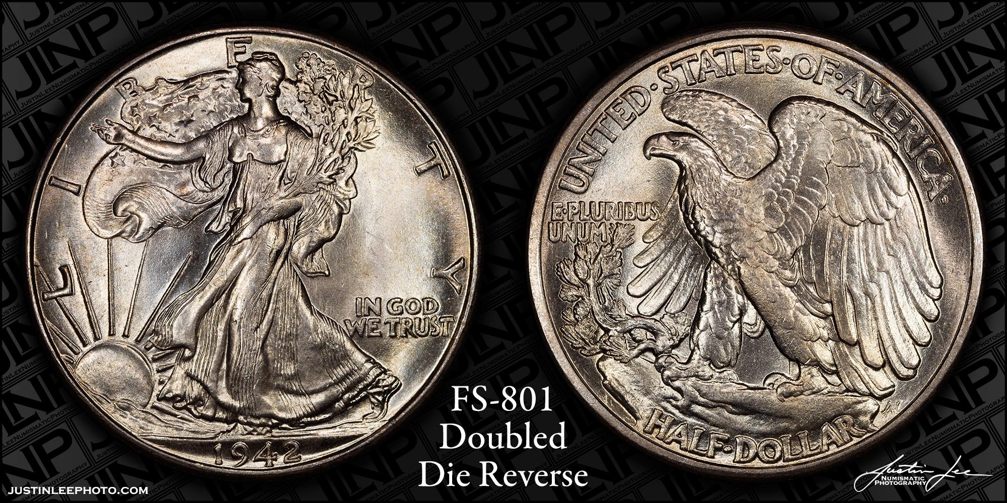 1942 Walking Liberty Half Dollar DDR FS-801 Raw