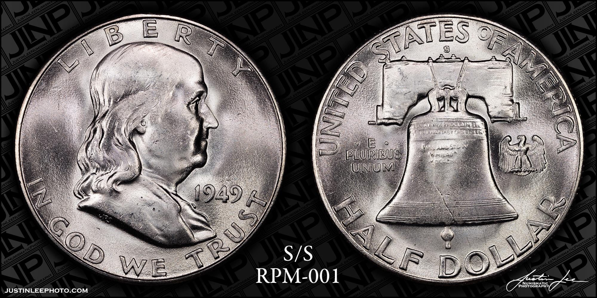 1949-S/S Franklin Half Dollar RPM-001 Raw