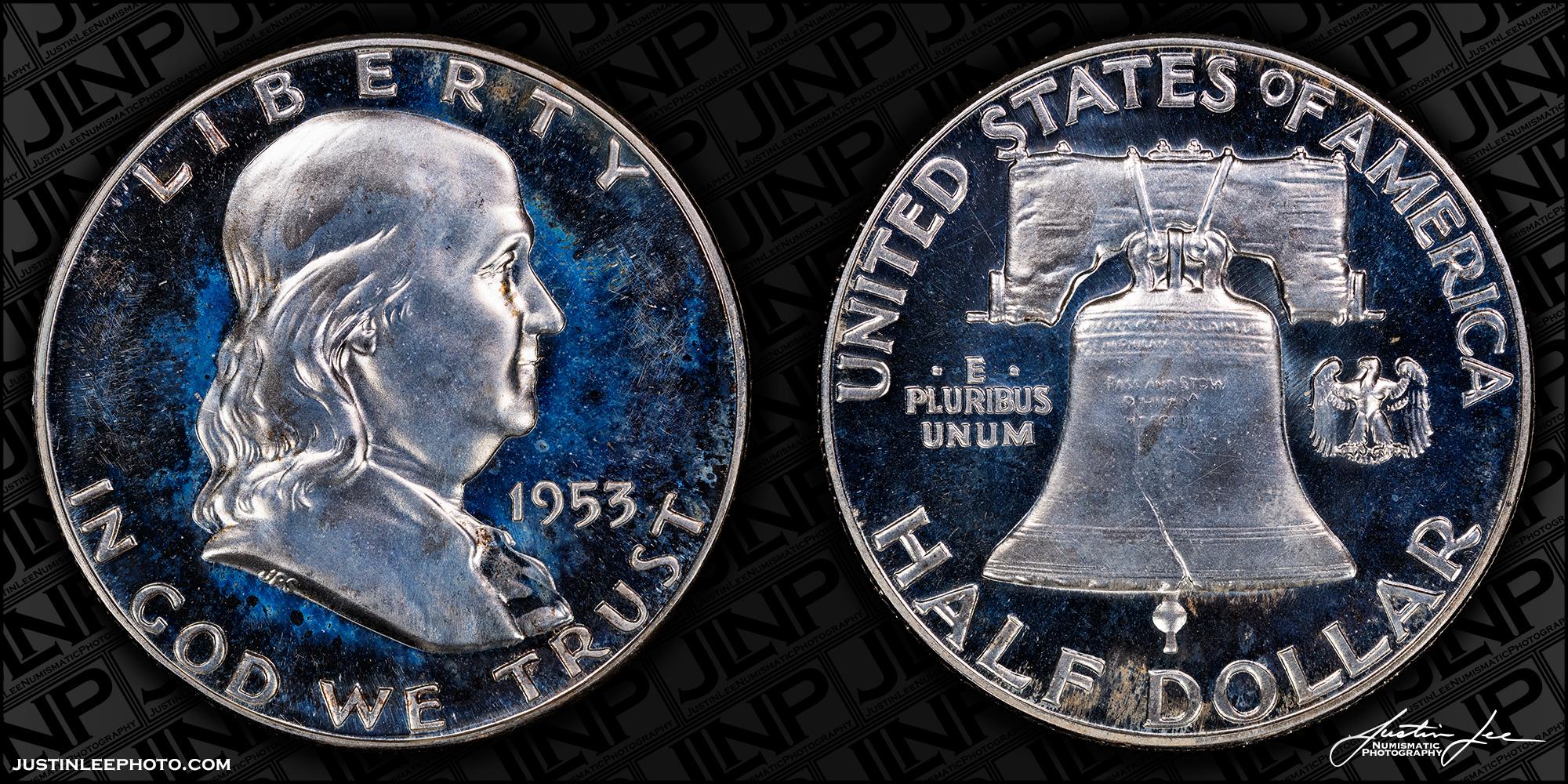 1953 Proof Franklin Half Dollar Raw
