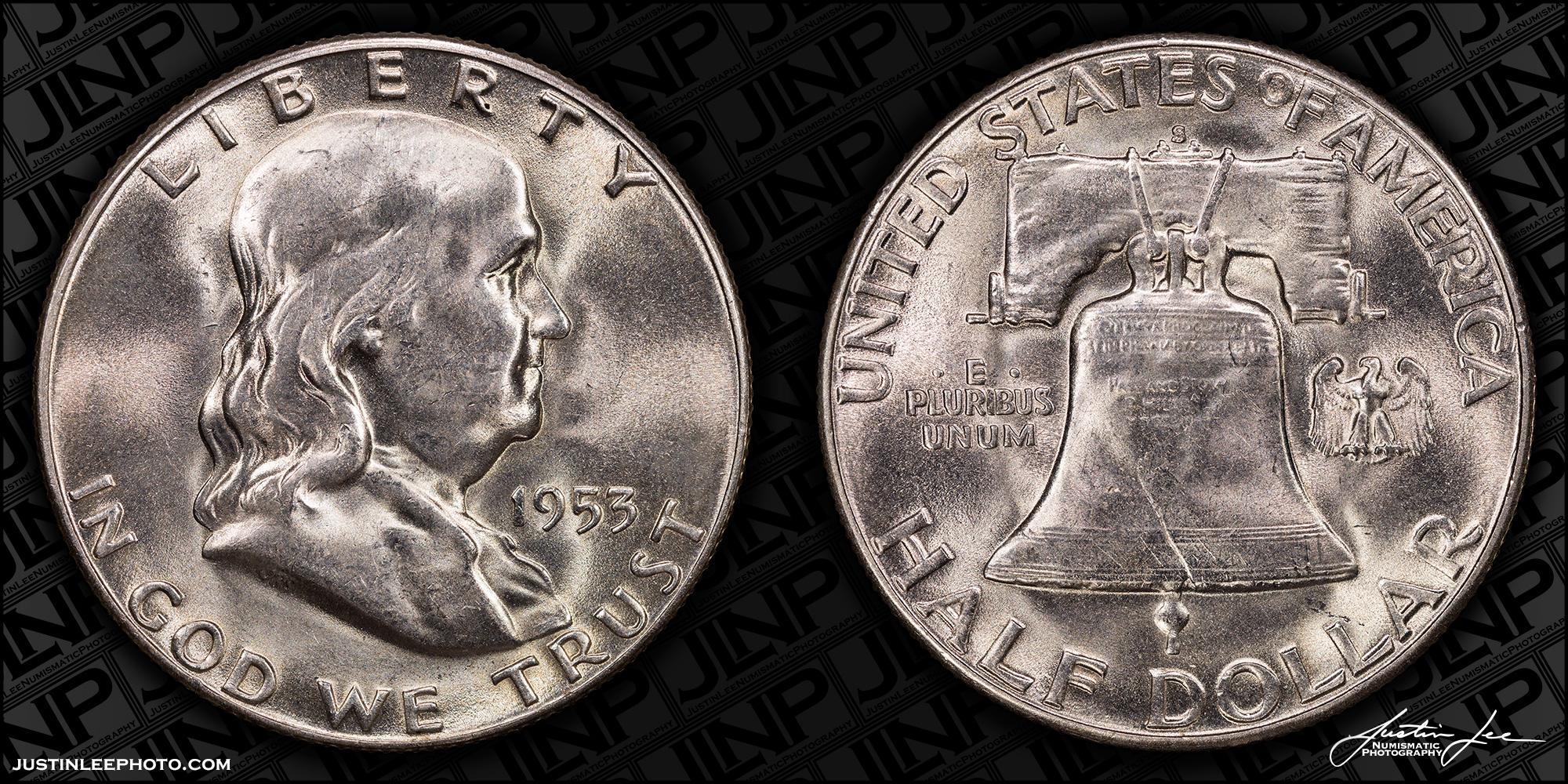 1953-S Franklin Half Dollar Raw