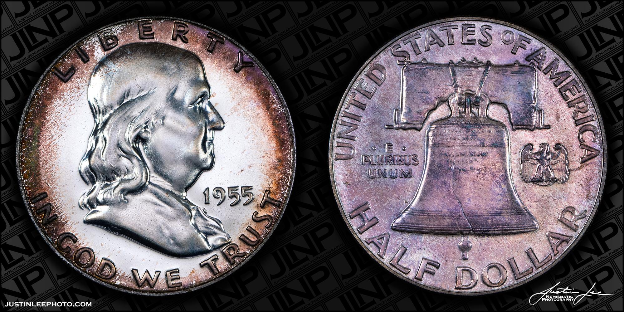 1955 Proof Franklin Half Dollar Raw