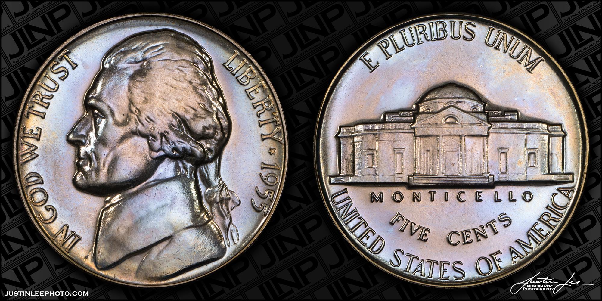 1955 Proof Jefferson Nickel Raw