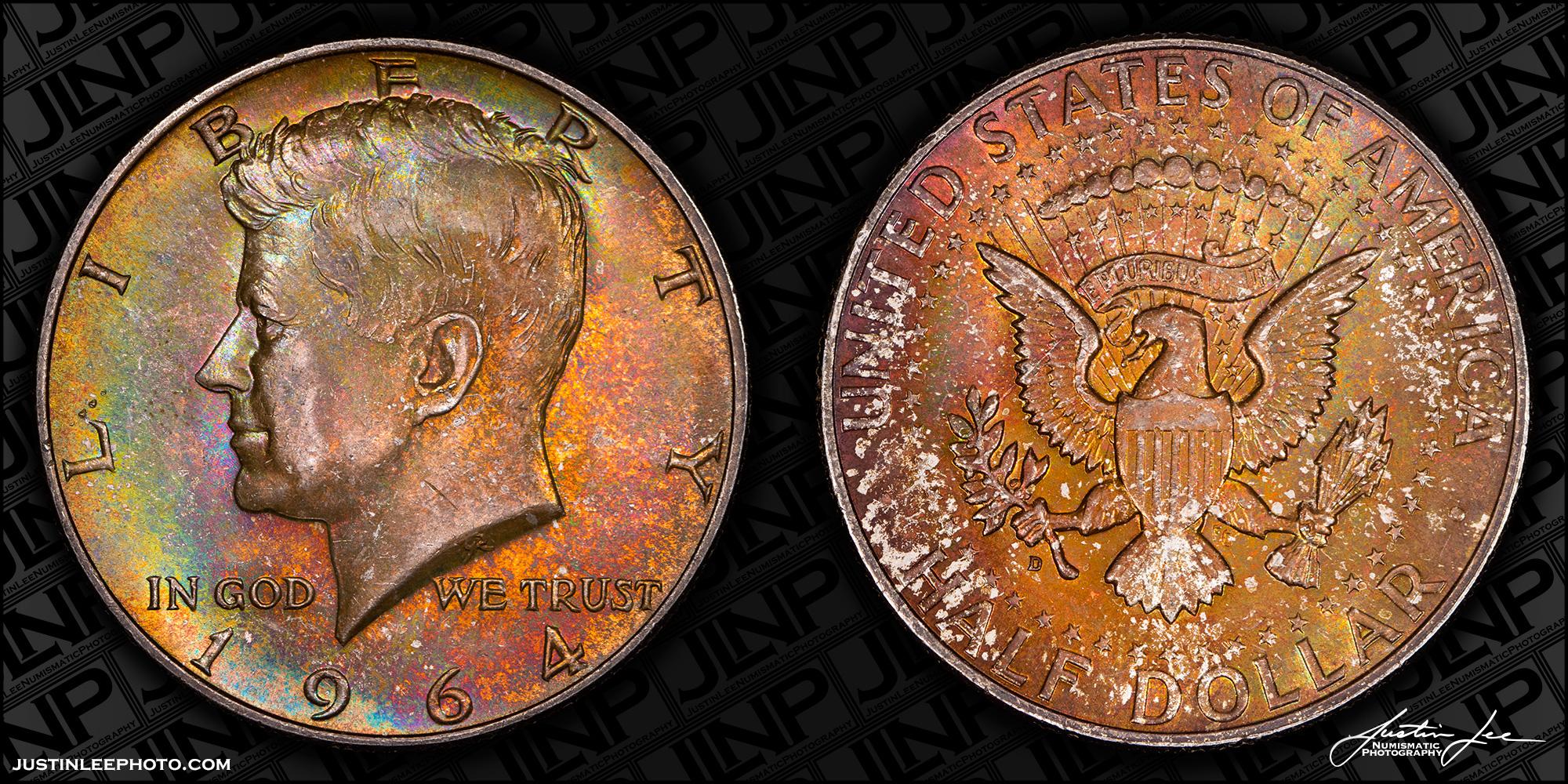1964 Kennedy Half Dollar Raw