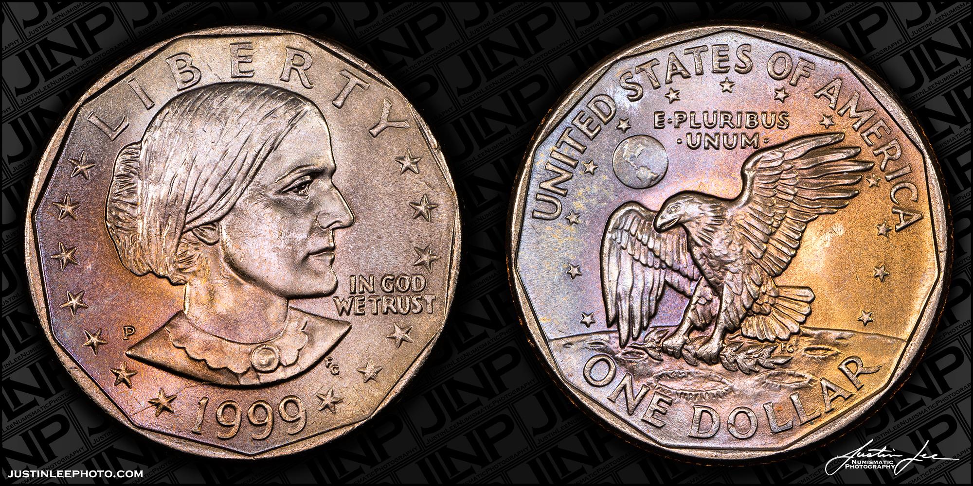1999 Susan B. Anthony Dollar Raw