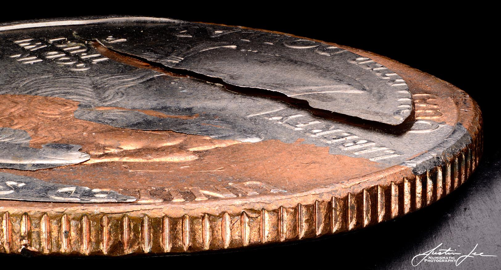 2006 Washington Quarter Peeled Clad Layer Detail