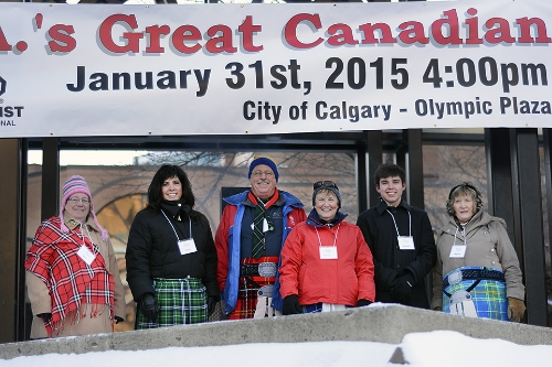 Optimists -- in spite of the cold!