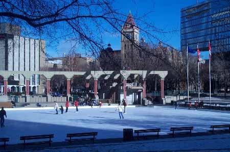 Calgary's Olympic Plaza.