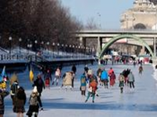 The Rideau Canal Skateway in the 2015 skating season.