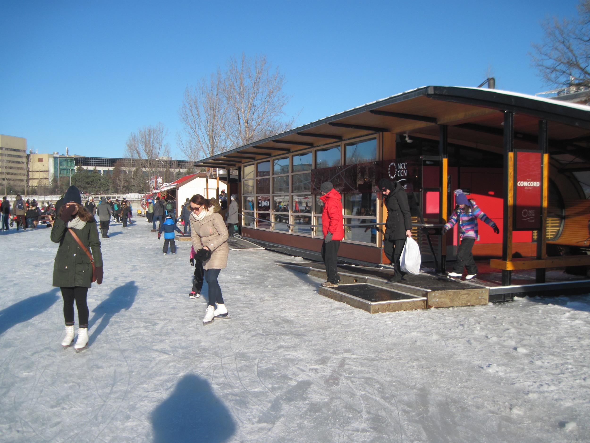 Skate-Change hut at Concord.