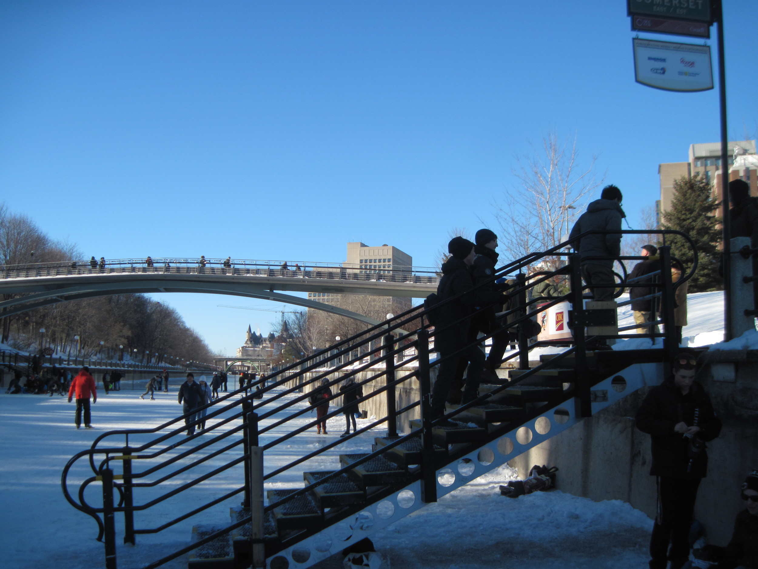 Somerset Bridge -- northern end--point of the 3.8 km of skateway opened today.