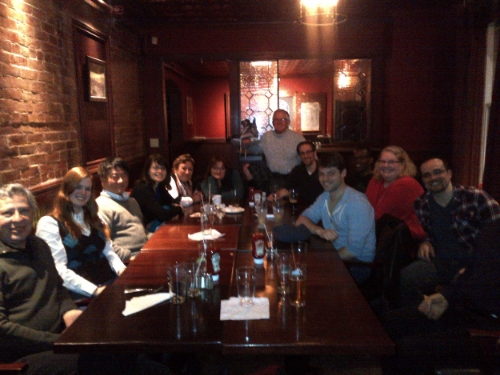 Under the leadership of Averill Elisa Frankes, Ottawa-area writers gather for a meet-up on the 25th of each month (excepting December).
