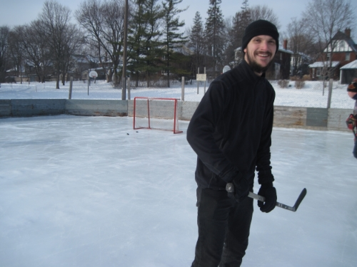 Feeling more comfortable on the ice.