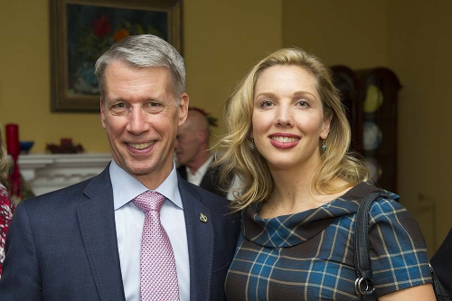 Hon. Andrew Leslie and Dana Cryderman. Photo: Roman Romanovich