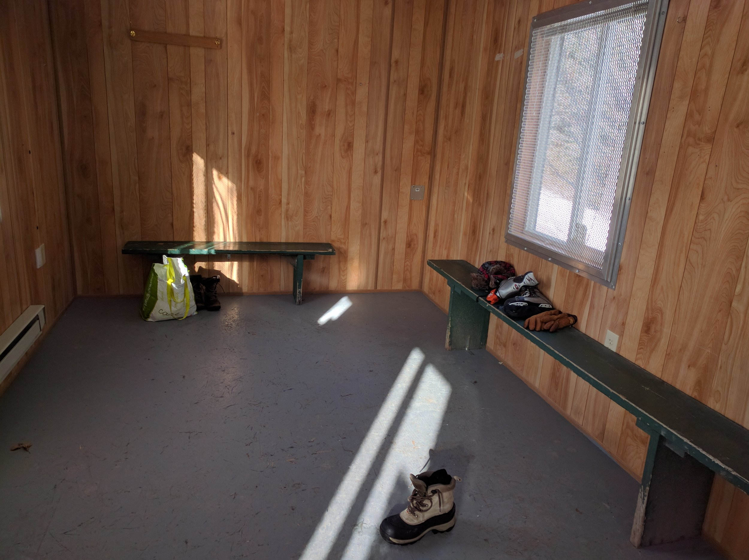 Changing room at Lansdowne Park Skating Court
