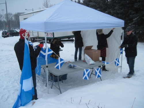 Setting up at Lansdowne Park Skating Court, January 2016