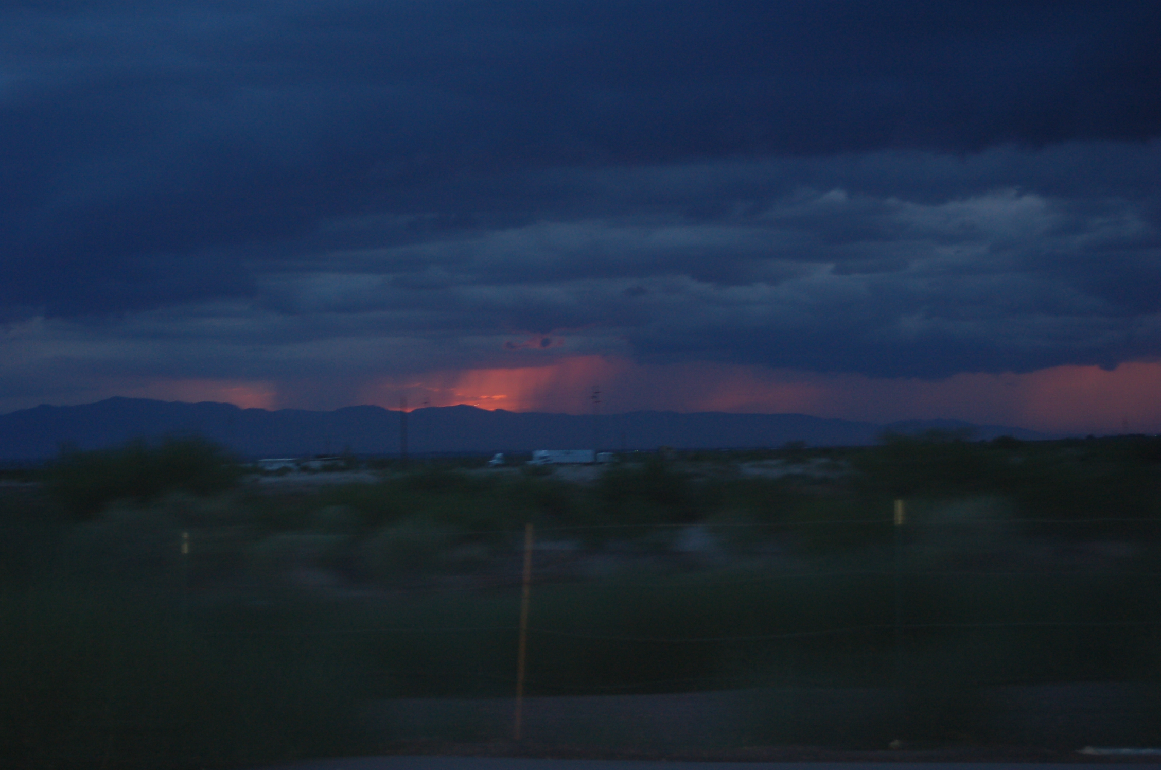 Desert rain at dusk. Chasing Great Plains Toads in southern Arizona's beautiful landscapes.