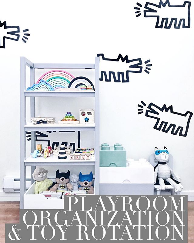 #shelfie time! 😍 | 👾let's talk #playroomorganization and #toyrotation! 🤖 • 💬: we received this gorgeous ladder shelf from our friends at ✨@deltachildren✨; and as I was arranging 👦🏽 @littlemrgray's 👦🏽 #woodentoys, it dawned on me to write a post about the concept of playroom organization toy rotation! too often we see rooms and complete homes get taken over by 🤖*so* *many* *toys*🤖 guys 🤦🏽‍♀️; but is it actually doing a disservice to your home and child? ❗️#montessori says it does, and I agree that it's for very good reason!❗️check out my post for a quick intro to the toy rotation we use at home and why #montessori is all about 'less is more'! link in bio!🙂 • 🛍: plus if you're looking for a gorgeous shelf like this one: don't forget that my readers all get a 15% off their purchases on the @deltachildren website, using promo code PETITEPLUSONE at checkout! #spon #deltachildrenpartner