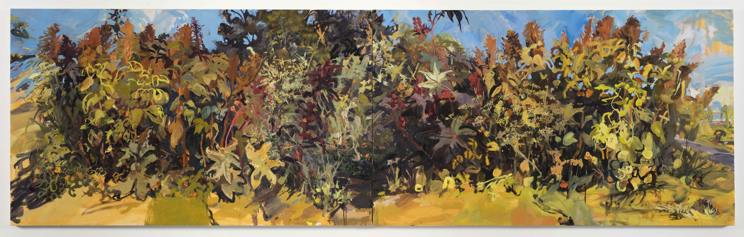 Millennium Park   36in x 120in, oil on canvas, 2017