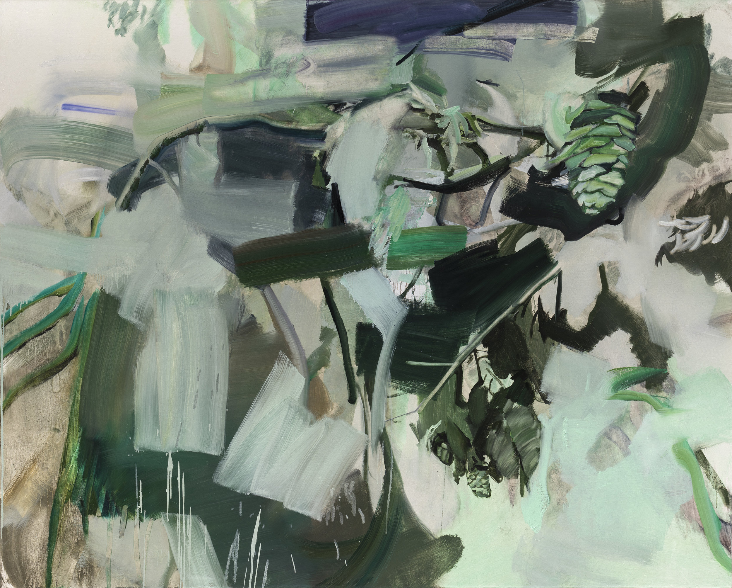 Canopy   66in x 82in, oil on canvas, 2018