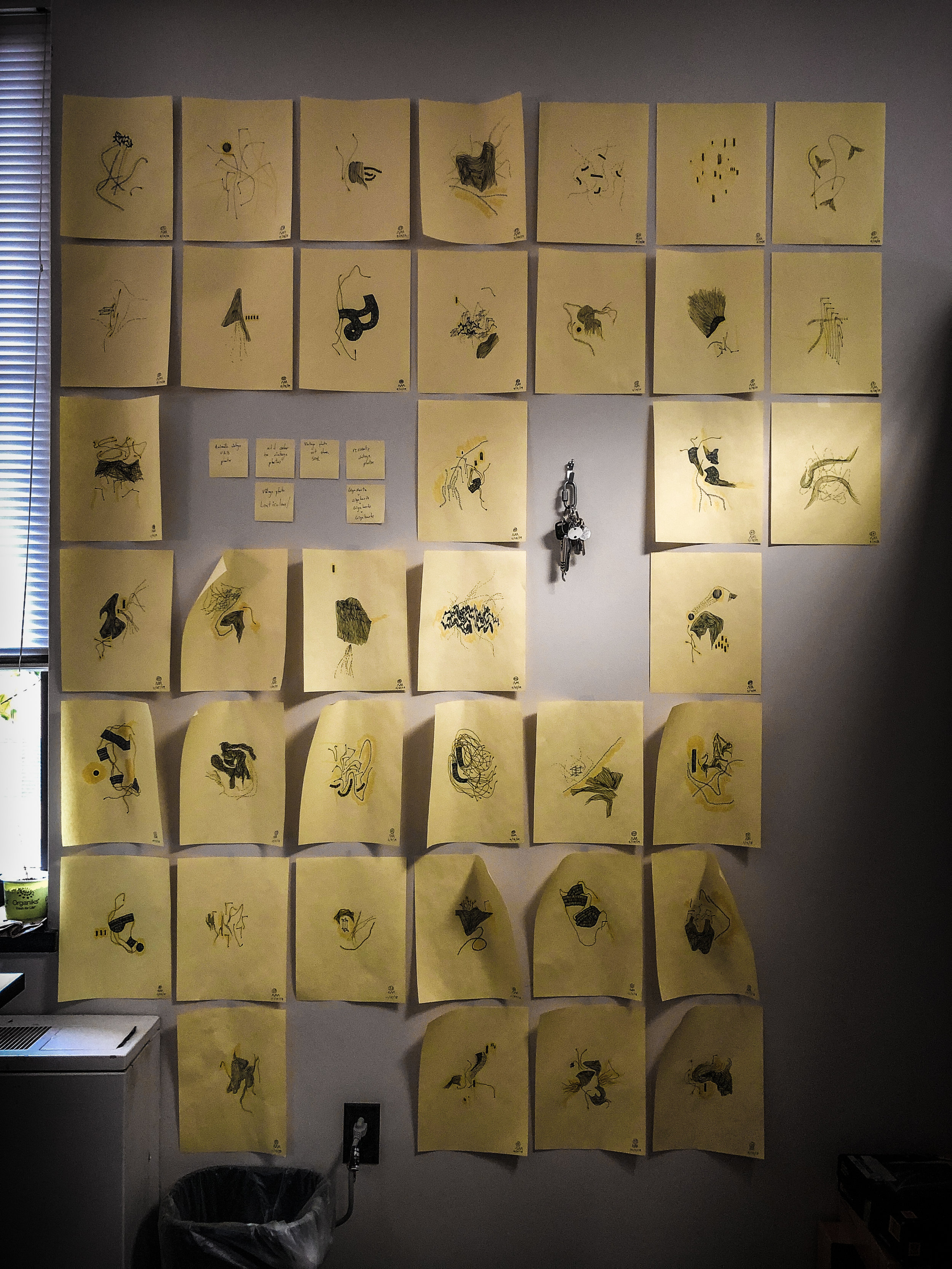 office drawing wall