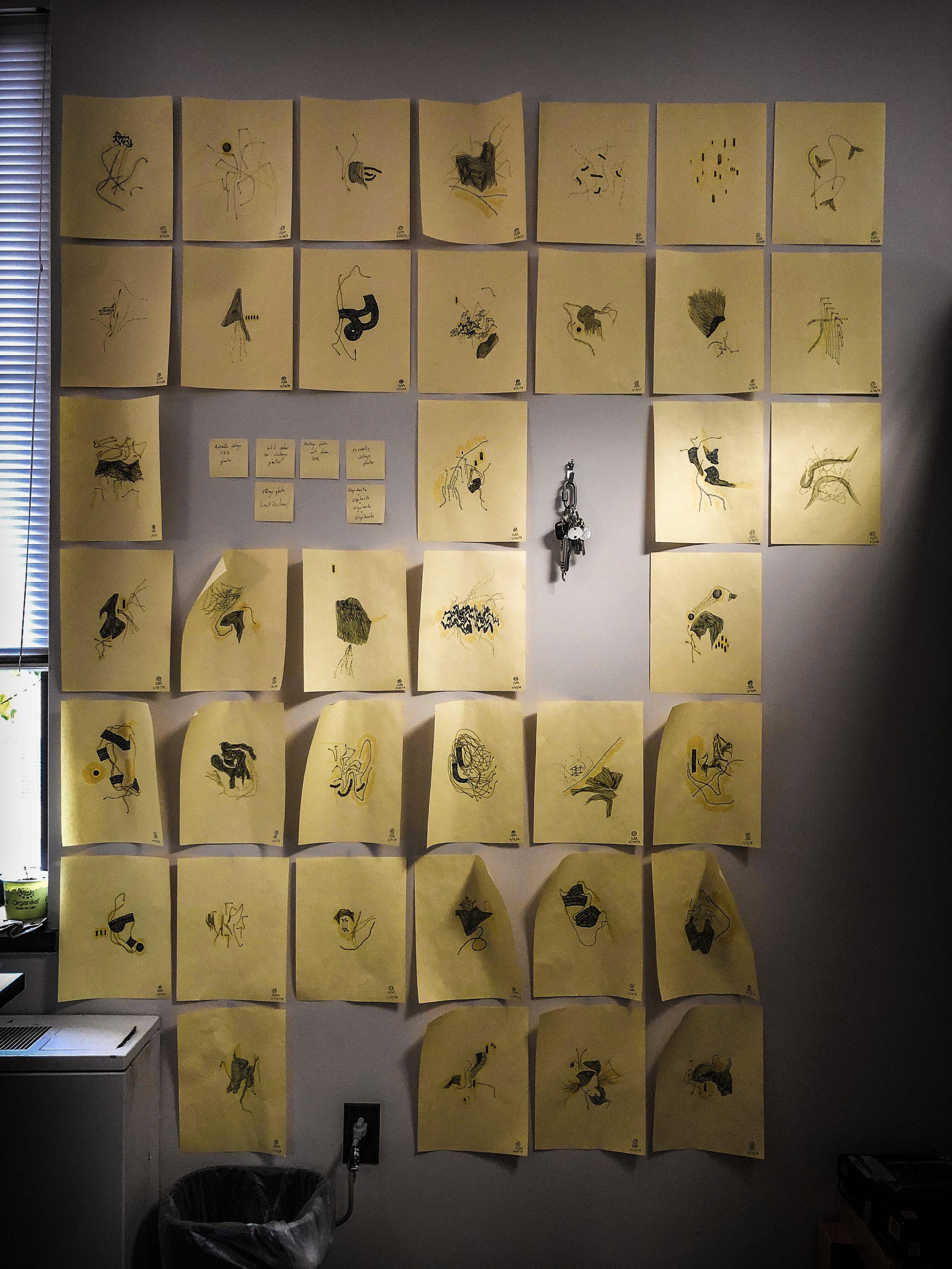 office drawing wall ryan meyer art