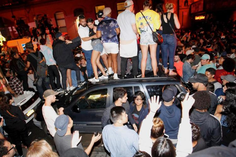 """Kanye fans cause """"near riot"""" conditions outside of Webster Hall Sunday night."""