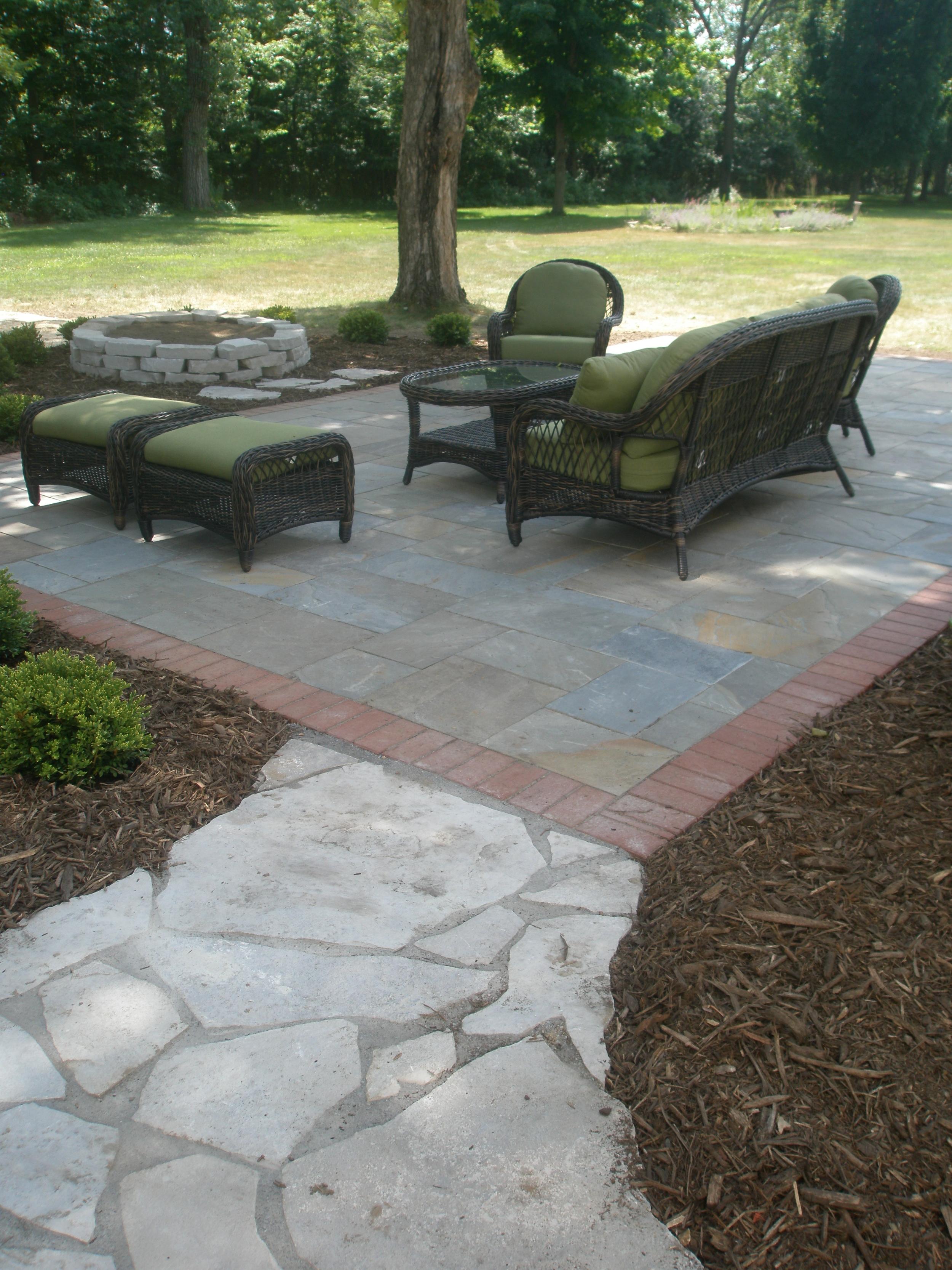 Bluestone patio