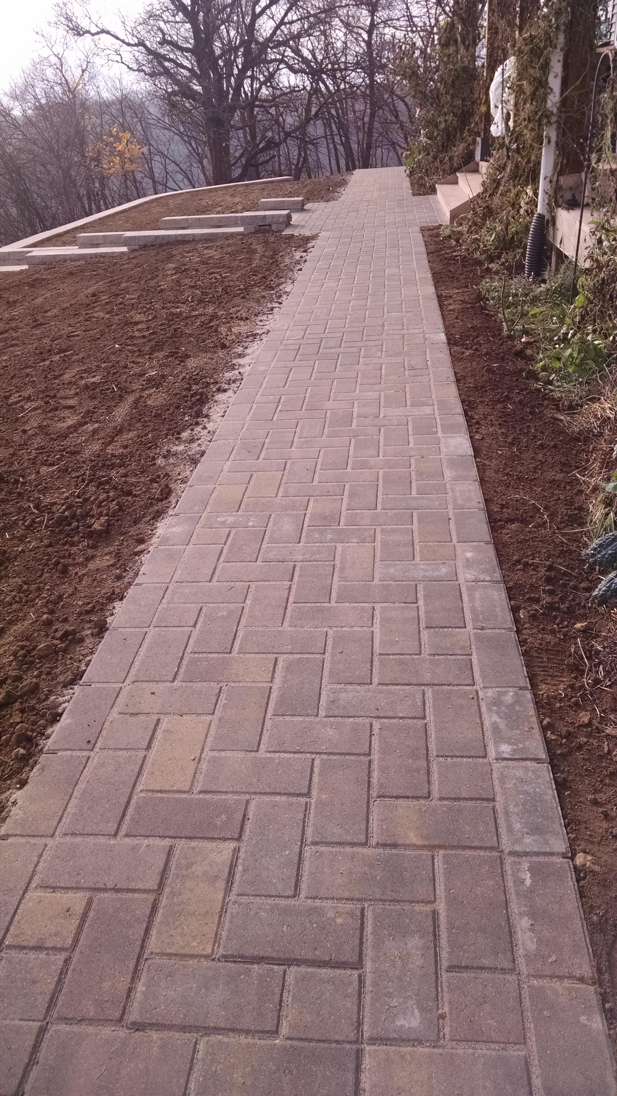 Herringbone walkway