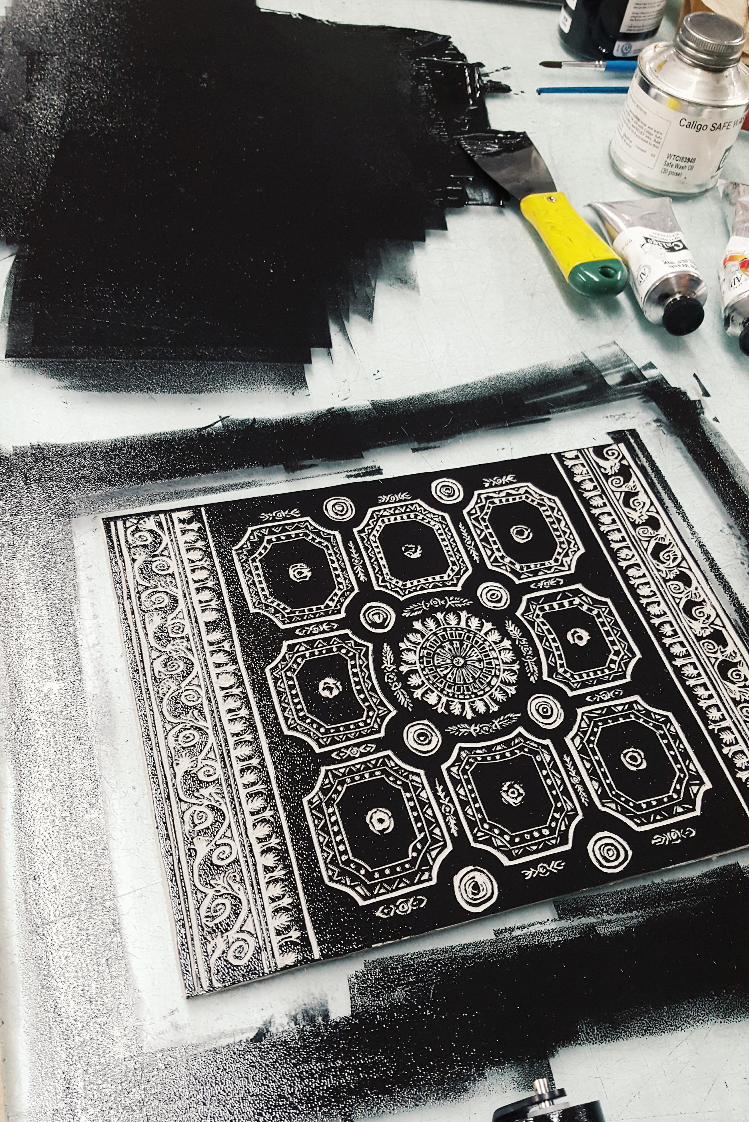 Printing a linocut