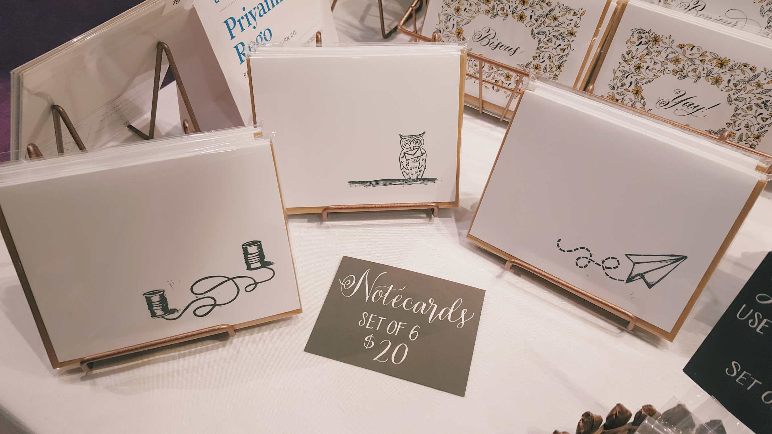 I sold out of the owl notecards!