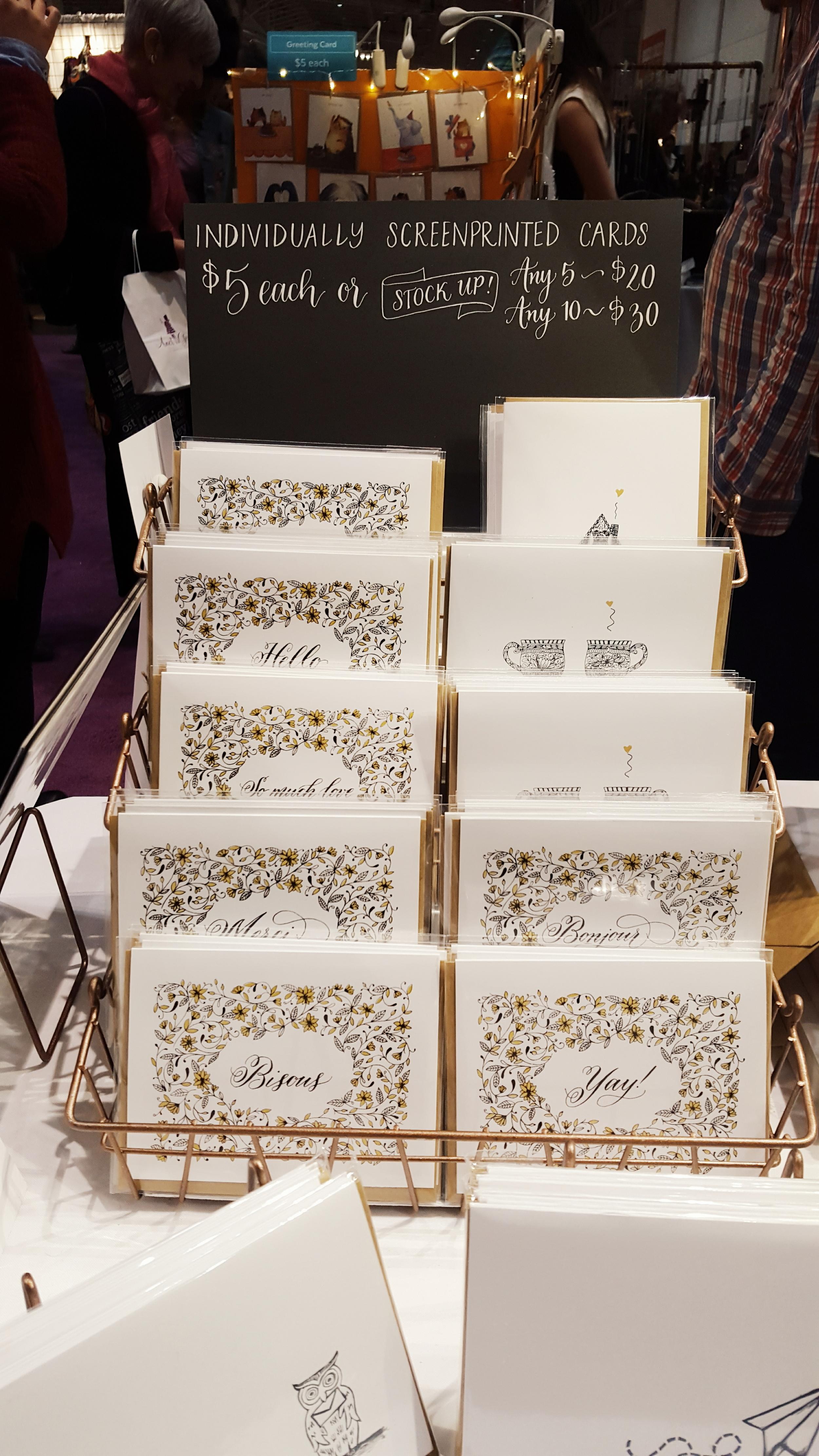 Greeting Card DIY display