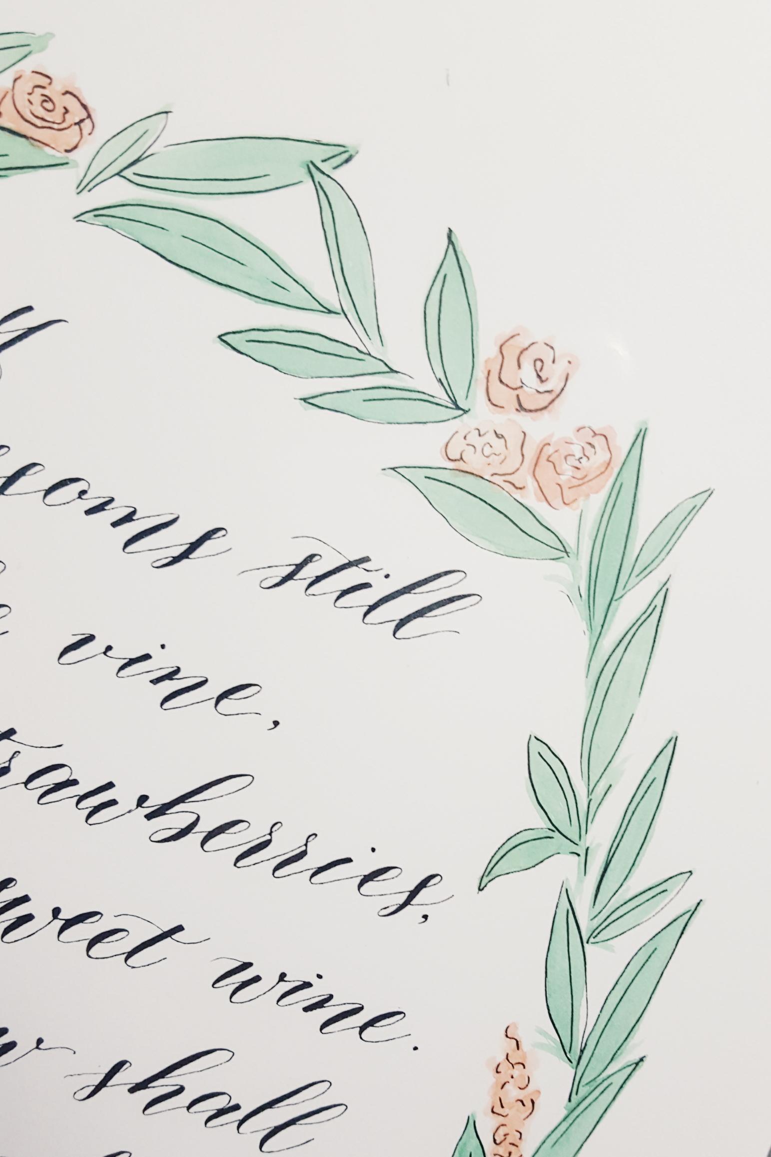 Custom Calligraphy Quote